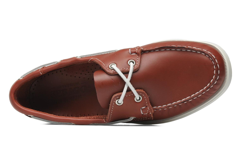 Snörade skor Sebago Docksides M Röd bild från vänster sidan