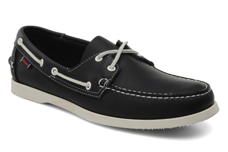Lace-up shoes Sebago Docksides M Blue detailed view/ Pair view