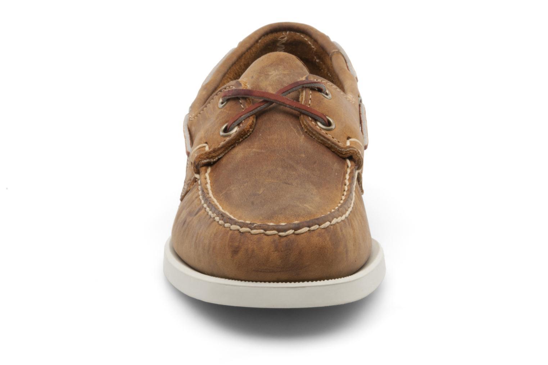 Snörade skor Sebago Docksides M Brun bild av skorna på