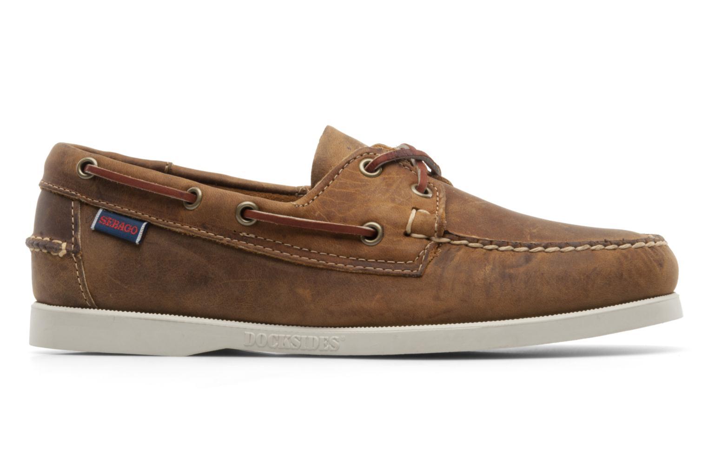 Snörade skor Sebago Docksides M Brun bild från baksidan