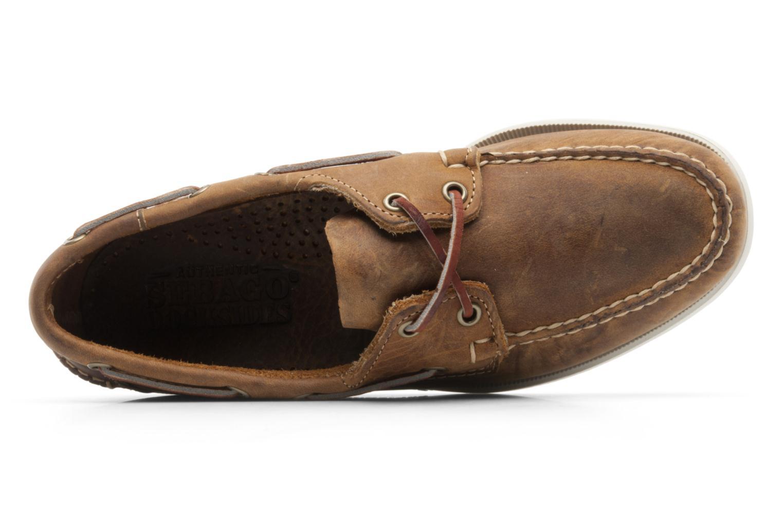 Snörade skor Sebago Docksides M Brun bild från vänster sidan
