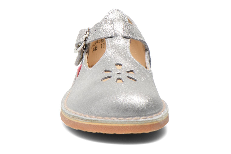 Ballerines Aster Dingo Argent vue portées chaussures