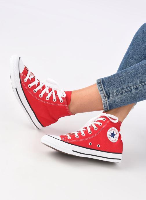 Sneaker Converse Chuck Taylor All Star Hi W rot ansicht von unten / tasche getragen