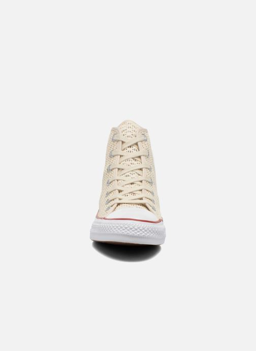 Baskets Converse Chuck Taylor All Star Hi W Beige vue portées chaussures