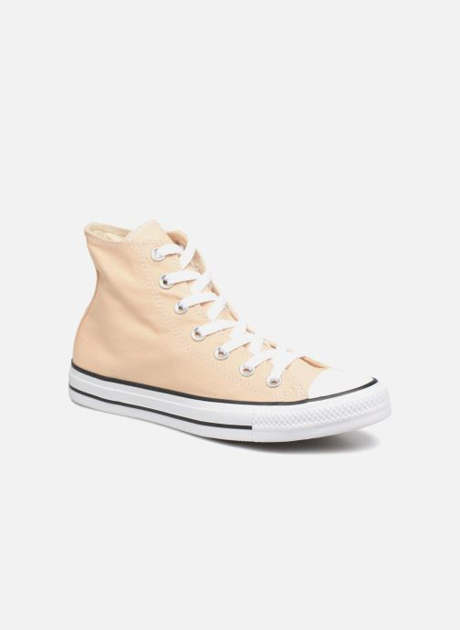 Baskets Converse Chuck Taylor All Star Hi W Jaune vue détail/paire