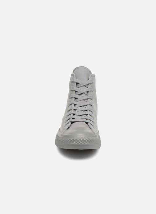 Baskets Converse Chuck Taylor All Star Hi W Gris vue portées chaussures