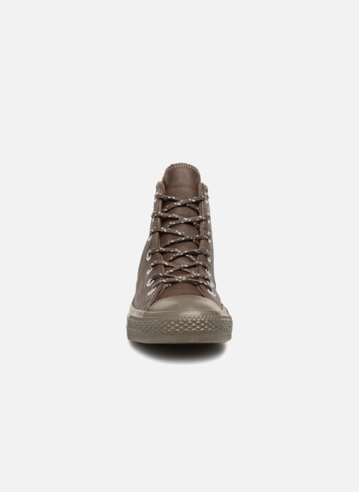 Baskets Converse Chuck Taylor All Star Hi W Marron vue portées chaussures