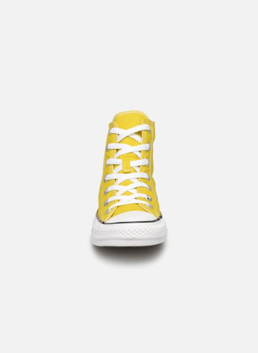 Baskets Converse Chuck Taylor All Star Hi W Jaune vue portées chaussures