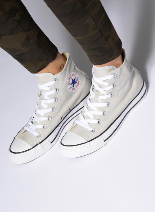 Trainers Converse Chuck Taylor All Star Seasonal Hi Blue view from underneath / model view