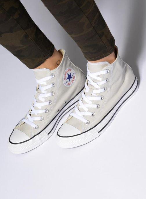 Sneaker Converse Chuck Taylor All Star Hi W weinrot ansicht von unten / tasche getragen