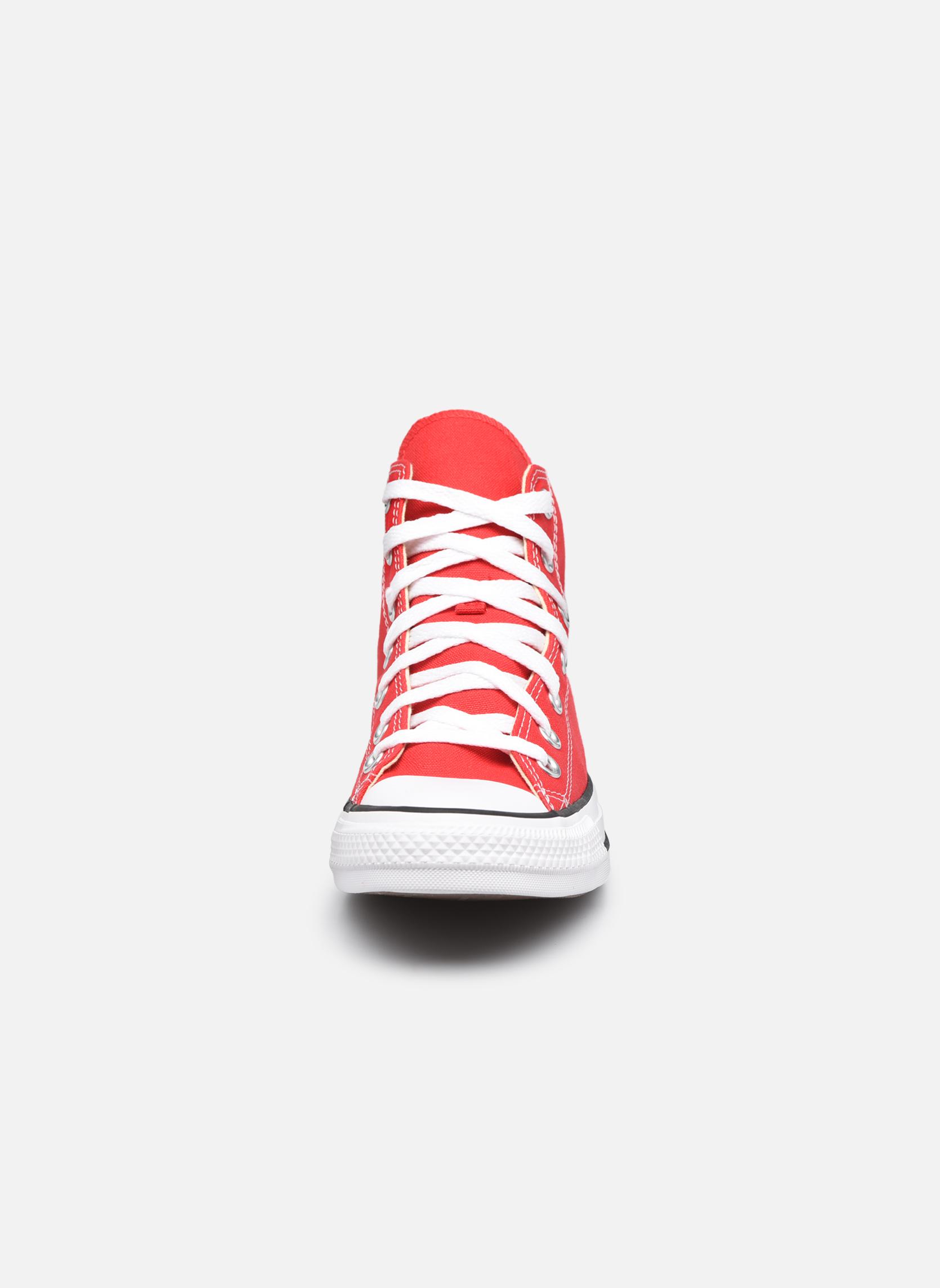 Sneaker Converse Chuck Taylor All Star Hi W rot schuhe getragen
