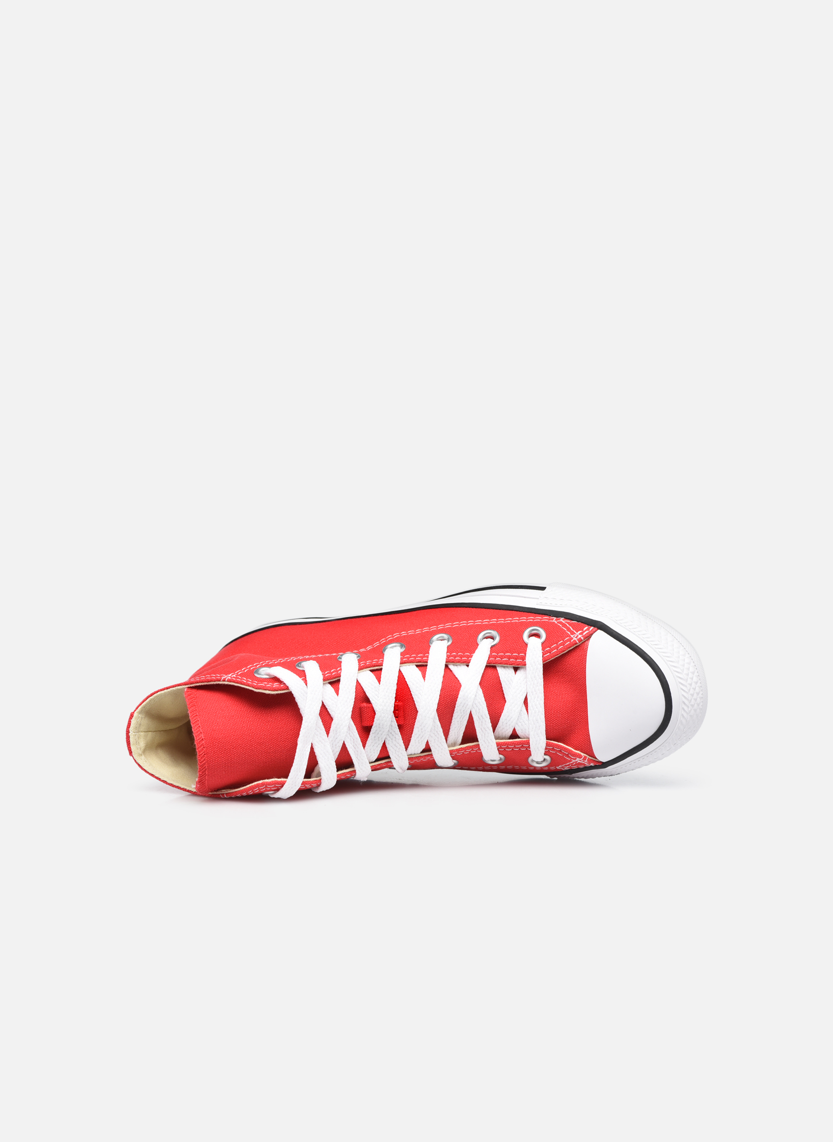 Baskets Converse Chuck Taylor All Star Hi W Rouge vue gauche