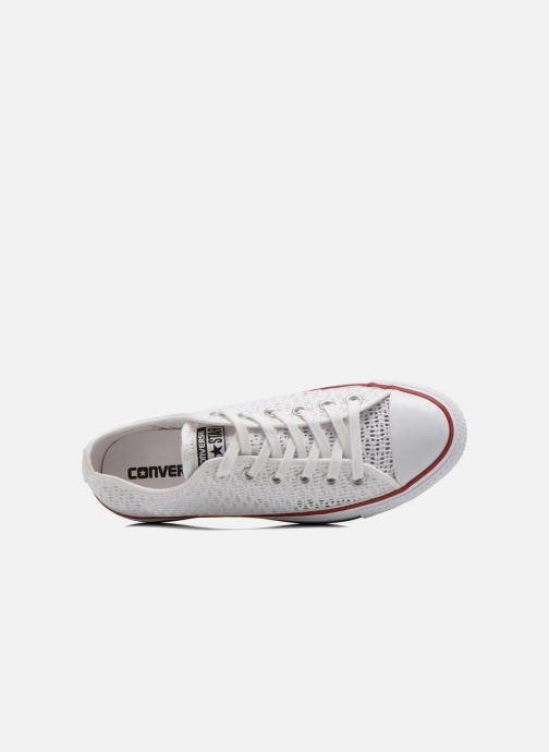 Sneaker Converse Chuck Taylor All Star Ox W weiß ansicht von links