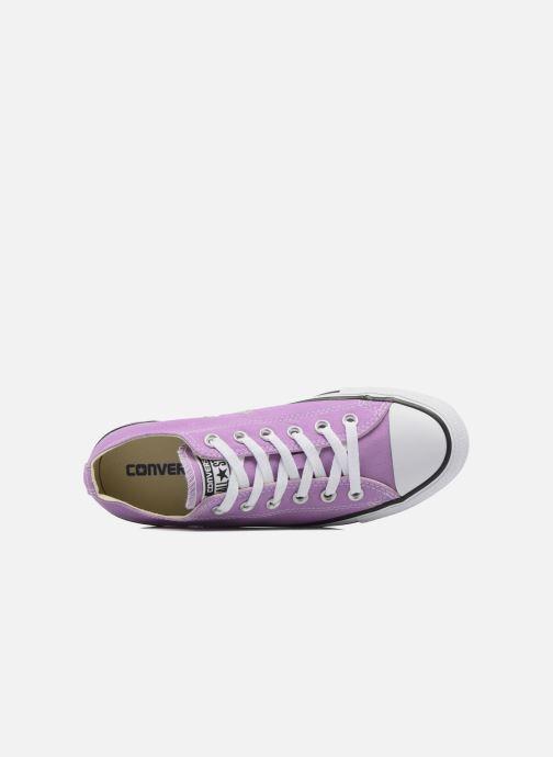 Sneaker Converse Chuck Taylor All Star Ox W lila ansicht von links