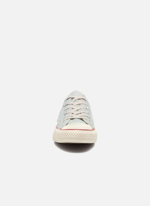 Sneaker Converse Chuck Taylor All Star Ox W blau schuhe getragen