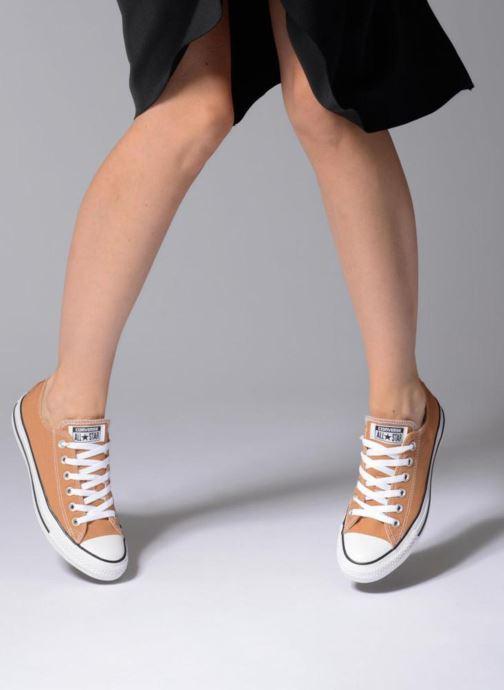 Sneaker Converse Chuck Taylor All Star Ox W blau ansicht von unten / tasche getragen