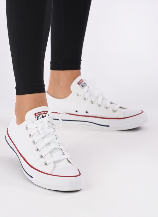 Trainers Converse Chuck Taylor All Star Ox W White view from underneath / model view