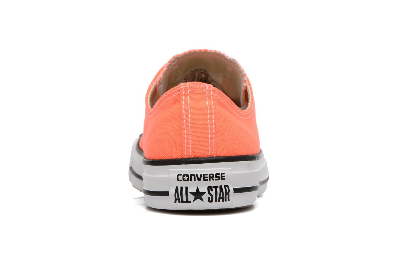 Baskets Converse Chuck Taylor All Star Ox W Orange vue droite