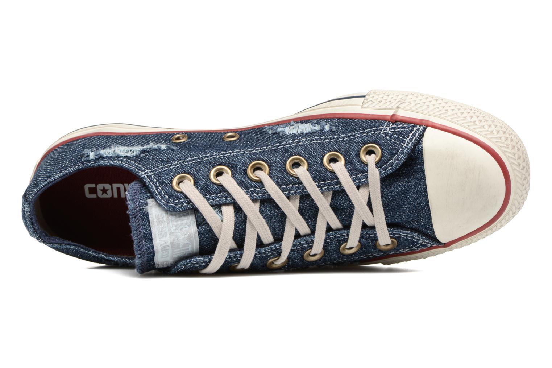 Baskets Converse Chuck Taylor All Star Ox W Bleu vue gauche