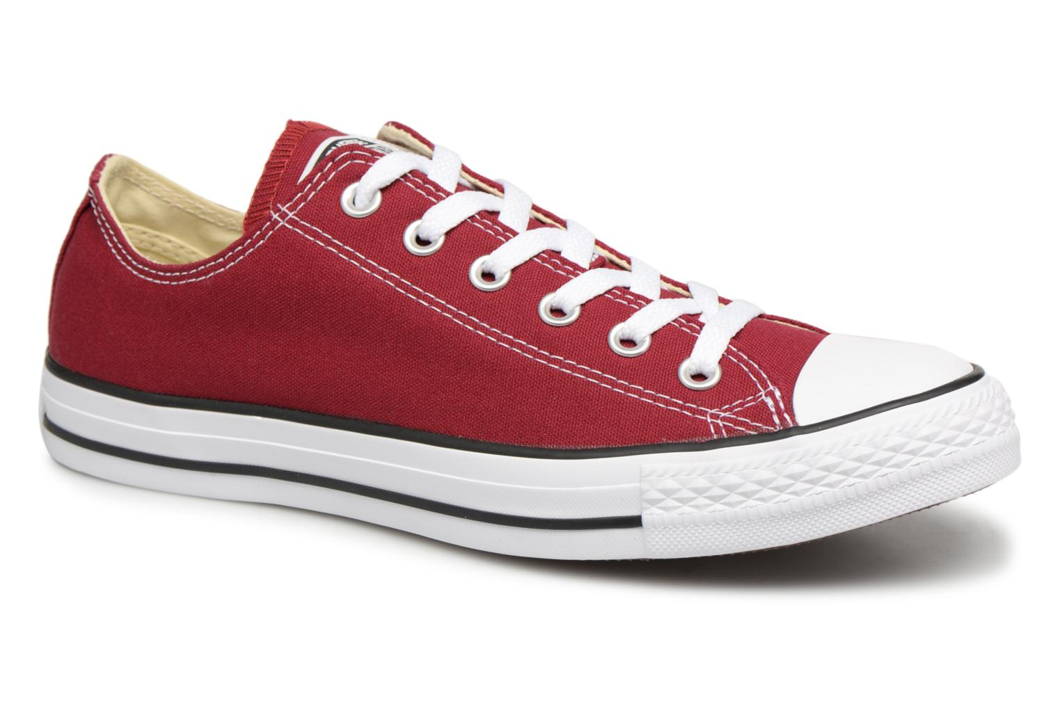 Converse Chuck Taylor Taylor Taylor All Star Ox W Burgundy Trainers chez ce569d