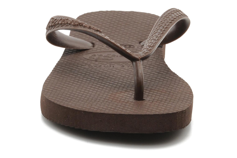 Tongs Havaianas Top F Marron vue portées chaussures