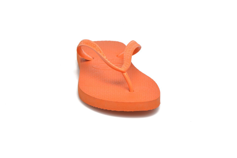 Tongs Havaianas Top F Orange vue portées chaussures