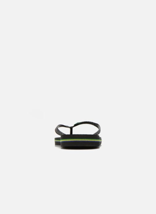 Flip flops Havaianas Brazil Femme Black view from the right