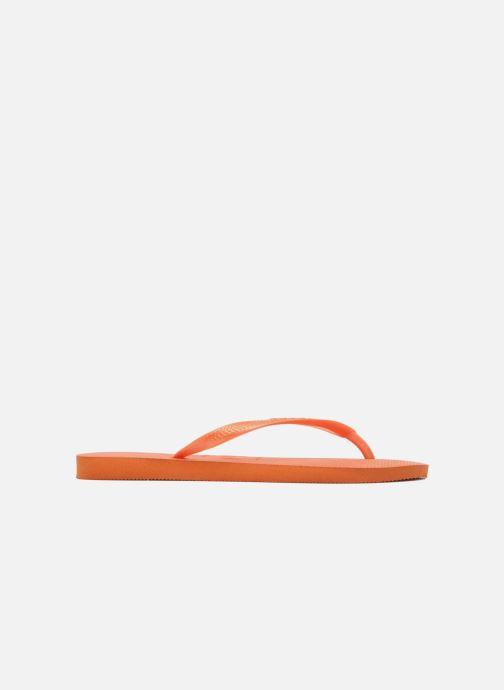Tongs Havaianas Slim Metallic F Orange vue derrière