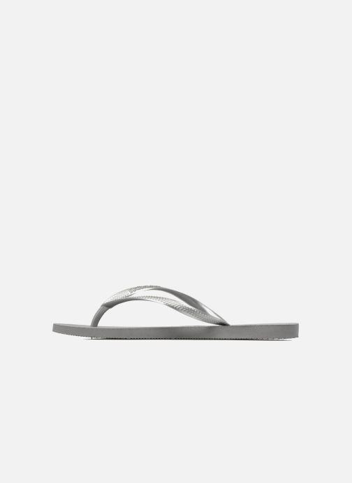 Tongs Havaianas Slim Metallic F Argent vue face