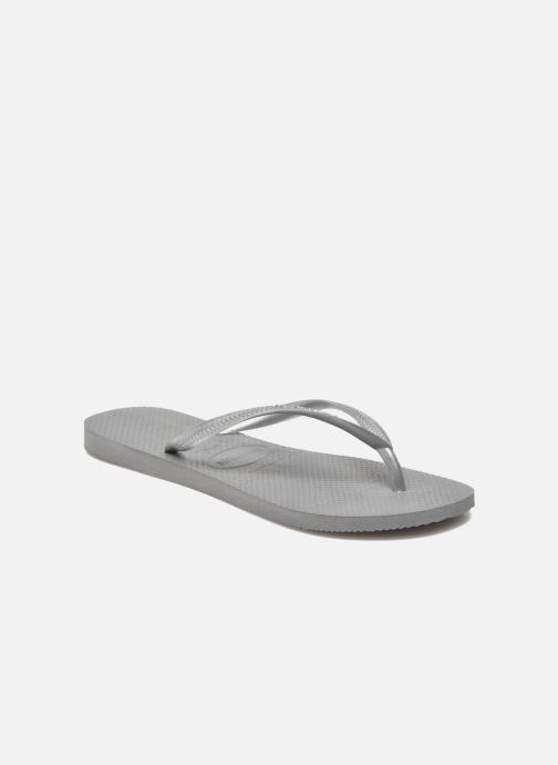 Flip flops & klipklapper Havaianas Smal Métallic  Sølv detaljeret billede af skoene