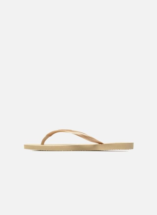 Tongs Havaianas Slim Metallic F Beige vue face