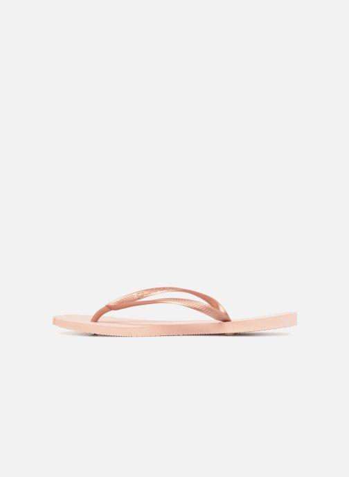 Tongs Havaianas Slim Metallic F Rose vue face