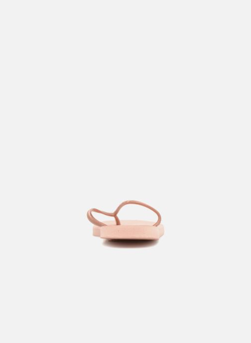 Tongs Havaianas Slim Metallic F Rose vue droite