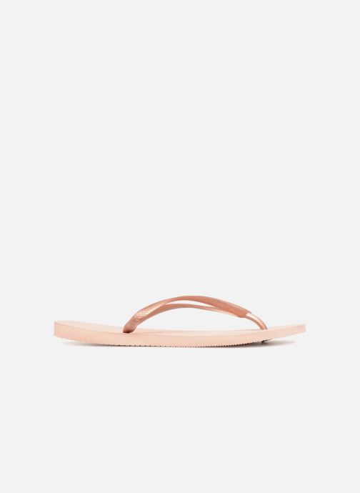 Tongs Havaianas Slim Metallic F Rose vue derrière