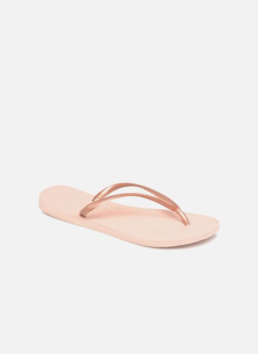 Tongs Havaianas Slim Metallic F Rose vue détail/paire