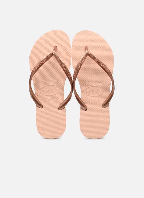 Flip flops & klipklapper Havaianas Smal Métallic  Pink detaljeret billede af skoene