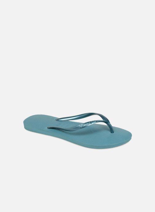 Chanclas Havaianas Slim Métallic Femme Azul vista de detalle / par