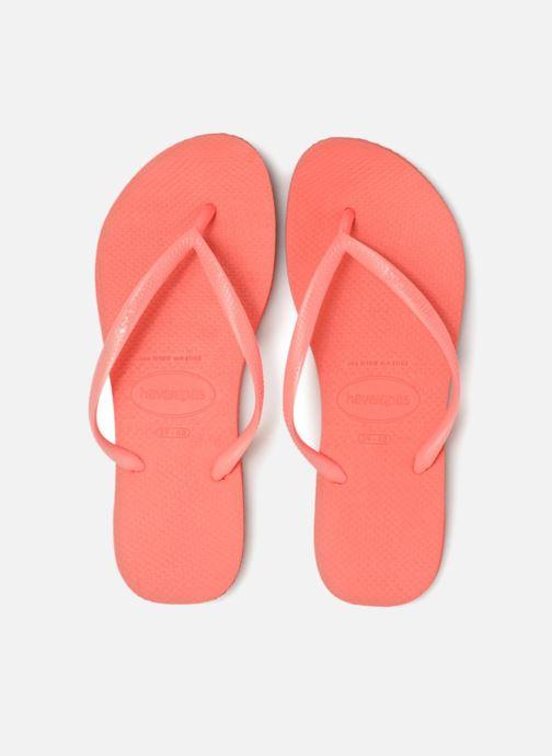 Tongs Havaianas Slim Metallic F Orange vue portées chaussures