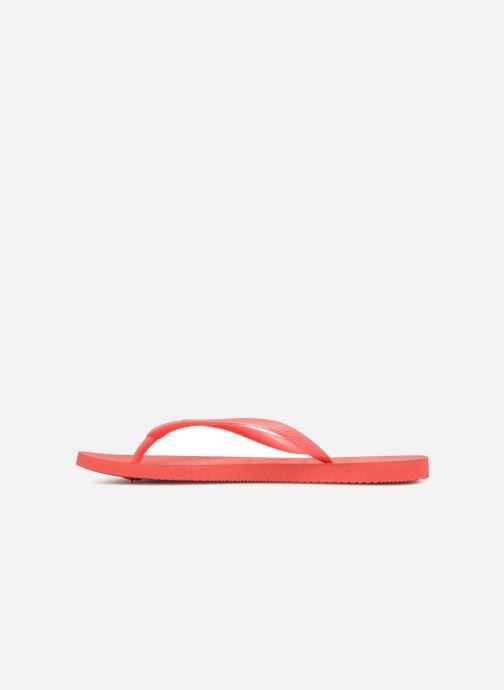 Flip flops Havaianas Slim Métallic Femme Orange front view