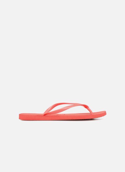 Flip flops Havaianas Slim Métallic Femme Orange back view