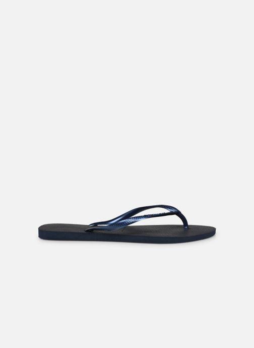 Flip flops Havaianas Slim Métallic Femme Blue back view