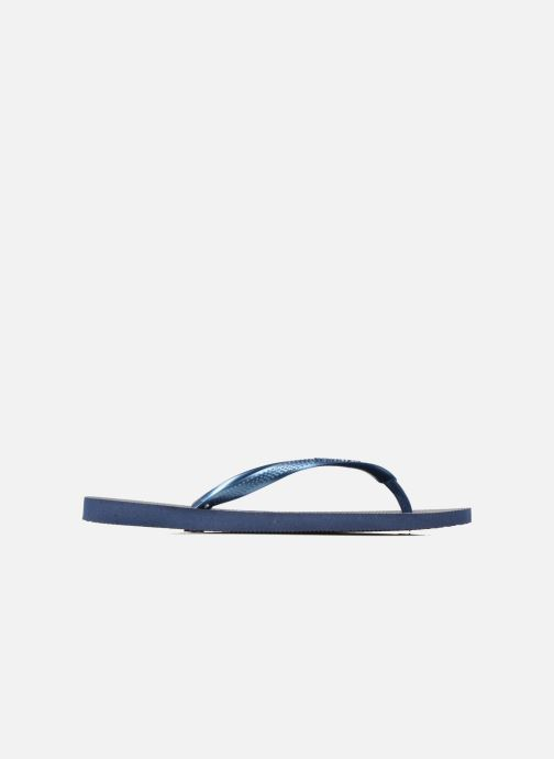 Slippers Havaianas Slim Métallic Femme Blauw achterkant