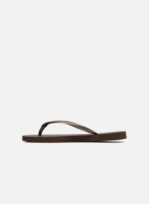 Tongs Havaianas Slim Metallic F Marron vue face