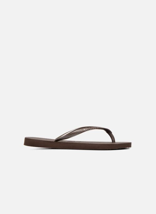 Tongs Havaianas Slim Metallic F Marron vue droite