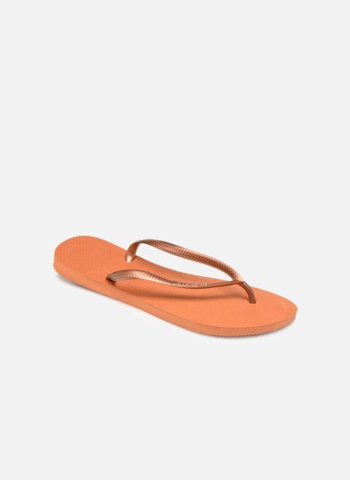 Chanclas Havaianas Slim Métallic Femme Naranja vista de detalle / par