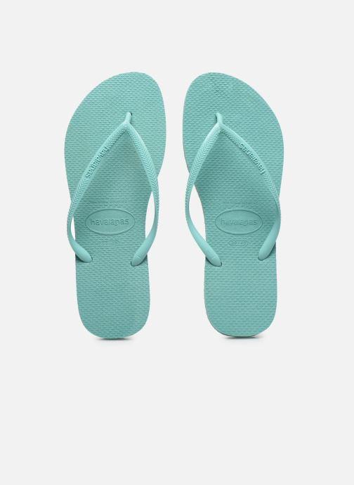 Tongs Havaianas Slim Metallic F Vert vue portées chaussures