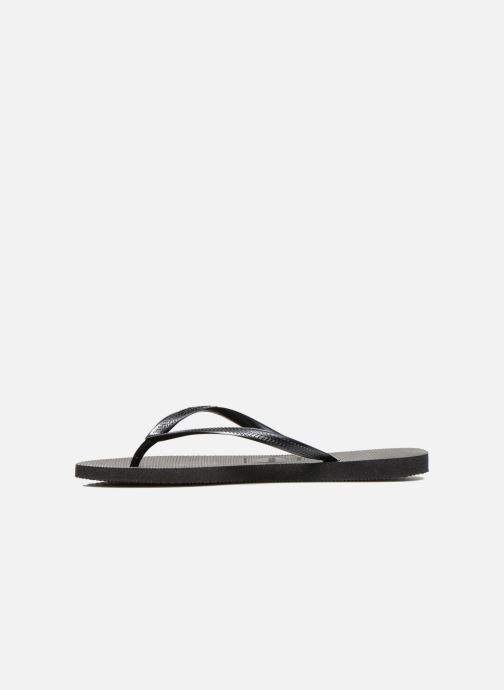 Tongs Havaianas Slim Metallic F Noir vue face