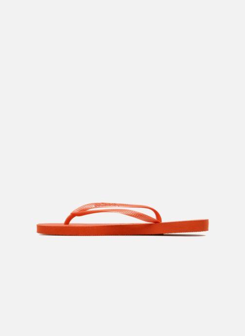 Zehensandalen Havaianas Slim Métallic Femme orange ansicht von vorne