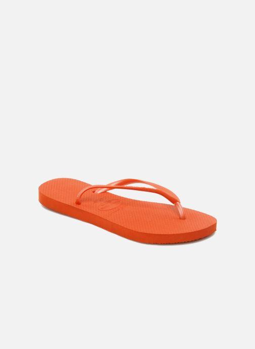 Zehensandalen Havaianas Slim Métallic Femme orange detaillierte ansicht/modell