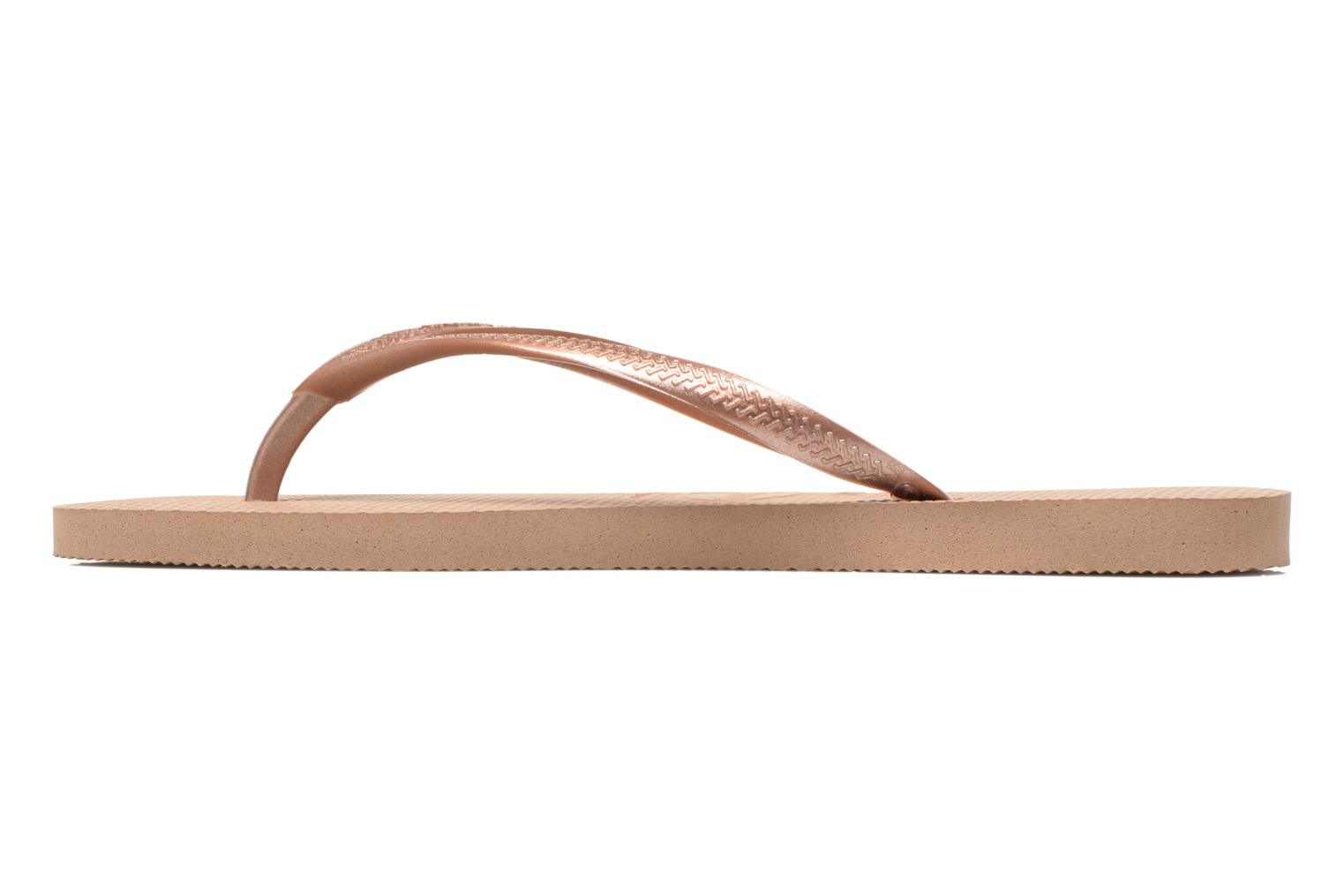 Tongs Havaianas Slim Metallic F Or et bronze vue face